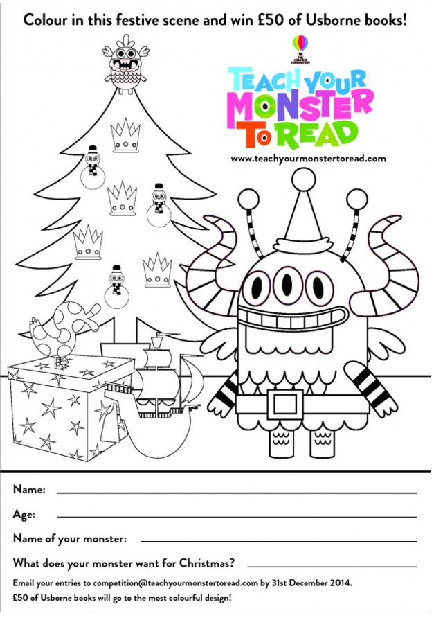 Christmas colouring in competition! - Teach Your Monster ...