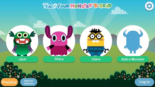 Local players screen on Teach Your Monster To Read App