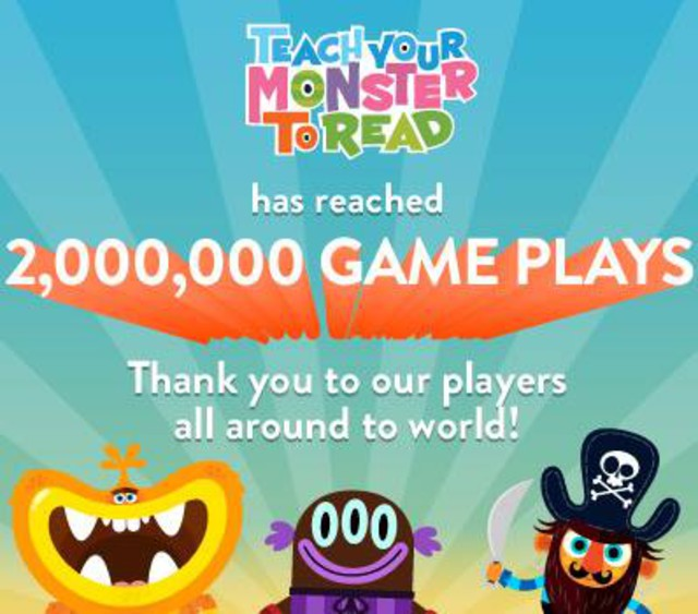 Teach Your Monster to Read – 2 million plays. - Teach Your Monster ...